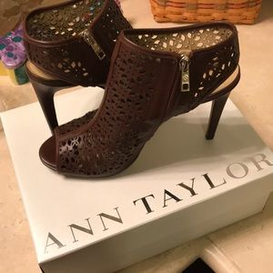 Ann Taylor Brown Booties